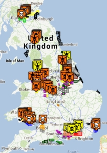Fracking sites