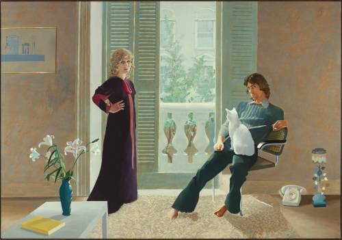 Mr and Mrs Clark and Percy 1970-1 by David Hockney born 1937